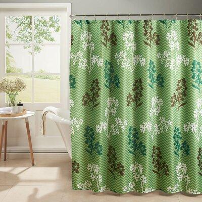 Diamond Weave Textured Shower Curtain Set Color: Sage
