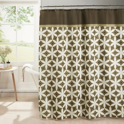 Oxford Weave Textured Shower Curtain Set