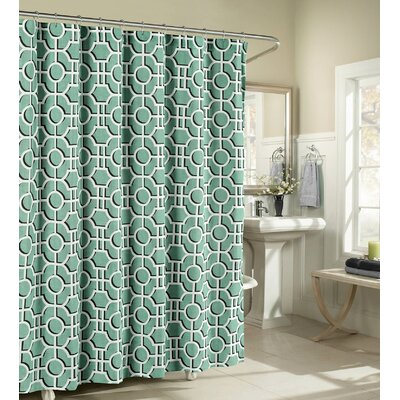 London Cotton Shower Curtain Color: Teal