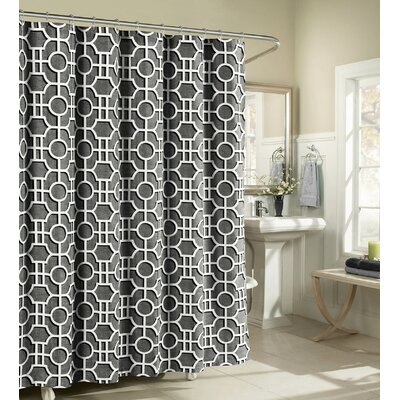London Cotton Shower Curtain Color: Charcoal