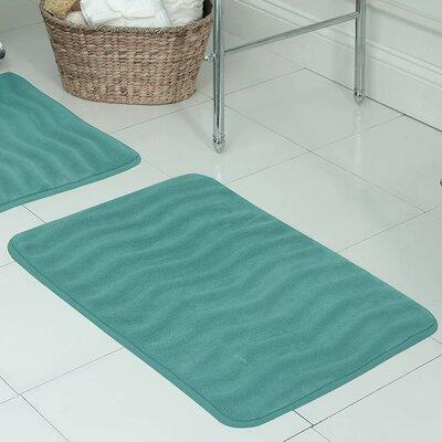 "Behnke Micro Plush Memory Foam Bath Mat Color: Turquoise, Size: 20"" W x 32"" L"