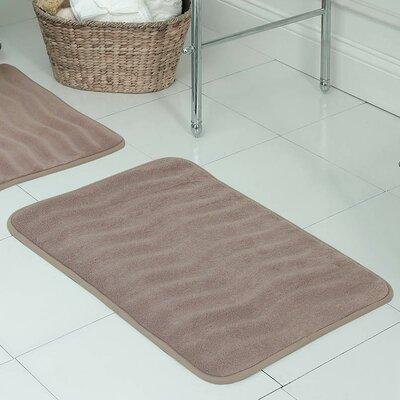 """Behnke Micro Plush Memory Foam Bath Mat Color: Linen, Size: 20"""" W x 32"""" L"""