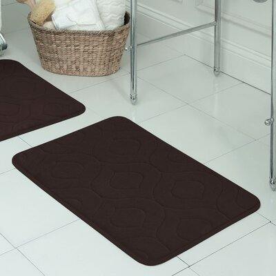 """Belhaven Plush Memory Foam Bath Mat Color: Espresso, Size: 20"""" W x 30"""" L"""