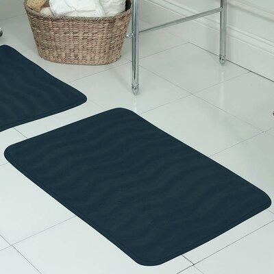 "Behnke Micro Plush Memory Foam Bath Mat Color: Dusty Blue, Size: 20"" W x 32"" L"