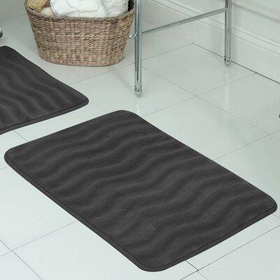 "Behnke Micro Plush Memory Foam Bath Mat Color: Dark Grey, Size: 20"" W x 32"" L"