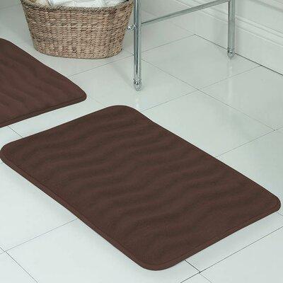 """Behnke Micro Plush Memory Foam Bath Mat Color: Mocha, Size: 20"""" W x 32"""" L"""