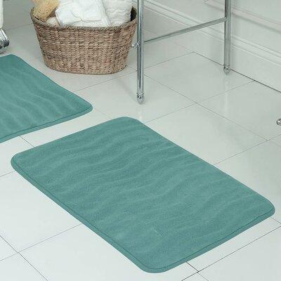 "Behnke Micro Plush Memory Foam Bath Mat Color: Marine Blue, Size: 20"" W x 32"" L"