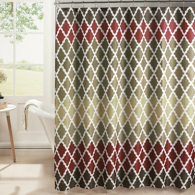 Hainesville Weave Textured Shower Curtain Set Color: Barn