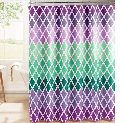 Hainesville Weave Textured Shower Curtain Set Color: Purple