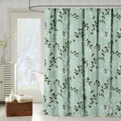 Meridian Printed Cotton Blend Shower Curtain Color: Harbor Gray