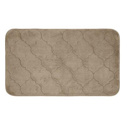 """Albermarle Micro Plush Memory Foam Bath Mat Color: Linen, Size: 24"""" H x 17"""" W"""