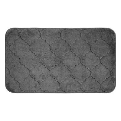"Albermarle Micro Plush Memory Foam Bath Mat Color: Dark Grey, Size: 34"" H x 20"" W"