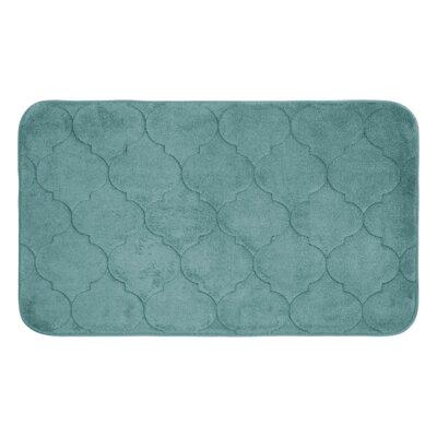"Albermarle Micro Plush Memory Foam Bath Mat Color: Marine Blue, Size: 34"" H x 20"" W"