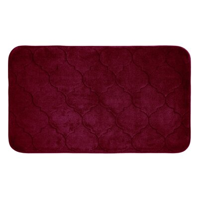 "Albermarle Micro Plush Memory Foam Bath Mat Color: Barn Red, Size: 24"" H x 17"" W"