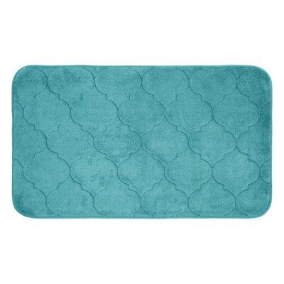 "Albermarle Micro Plush Memory Foam Bath Mat Color: Turquoise, Size: 34"" H x 20"" W"