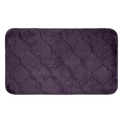 "Albermarle Micro Plush Memory Foam Bath Mat Color: Plum, Size: 34"" H x 20"" W"