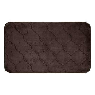 "Albermarle Micro Plush Memory Foam Bath Mat Color: Espresso, Size: 34"" H x 20"" W"