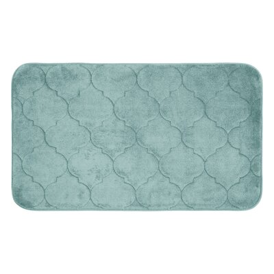 "Albermarle Micro Plush Memory Foam Bath Mat Color: Aqua, Size: 34"" H x 20"" W"
