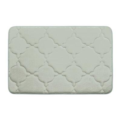 "Dorothy Premium Micro Plush Memory Foam Bath Mat Color: Light Grey, Size: 24"" x 17"""