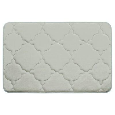 "Dorothy Premium Micro Plush Memory Foam Bath Mat Color: Light Grey, Size: 32' x 20"""