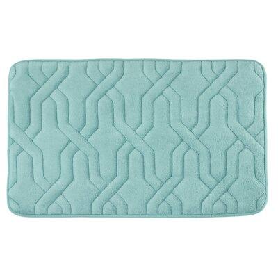 "Drona Premium Micro Plush Memory Foam Bath Mat Size: 17"" W x 24"" L, Color: Marine Blue"