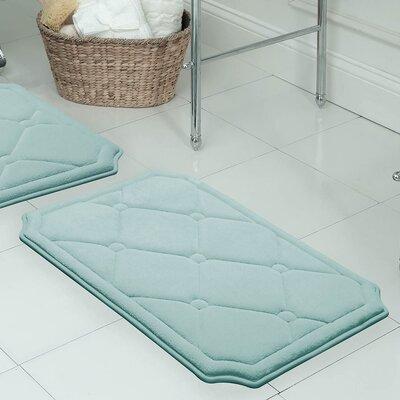 "Gertie Premium Micro Plush Memory Foam Bath Mat Color: Aqua, Size: 32"" x 20"""
