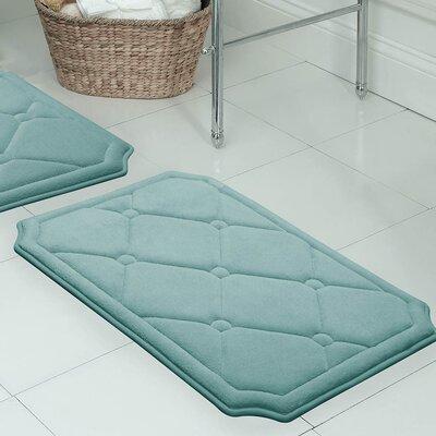 "Gertie Premium Micro Plush Memory Foam Bath Mat Color: Marine Blue, Size: 24"" x 17"""