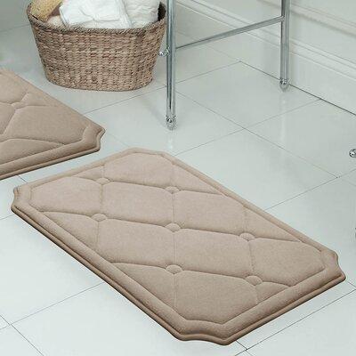 """Gertie Premium Micro Plush Memory Foam Bath Mat Color: Linen, Size: 24"""" x 17"""""""