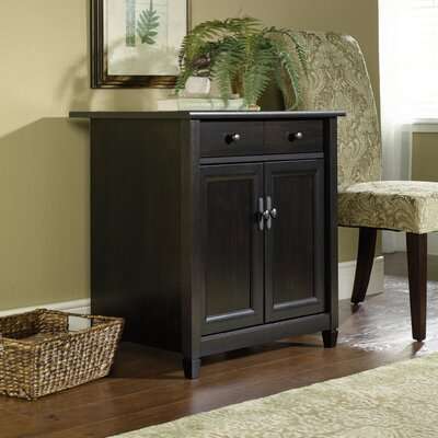 Lemire 1 Drawer Accent Cabinet Color: Black