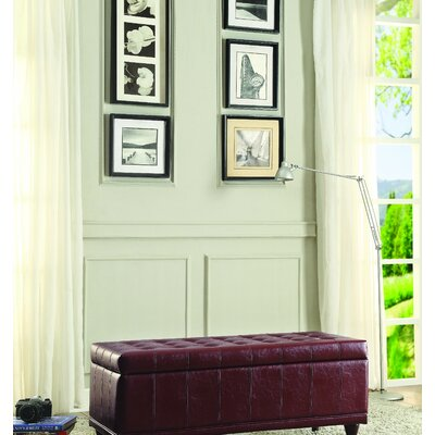 Cafferata Upholstered Storage Bench Color: Red
