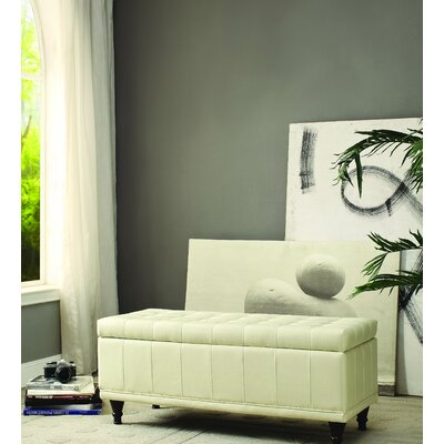 Cafferata Upholstered Storage Bench Color: Taupe