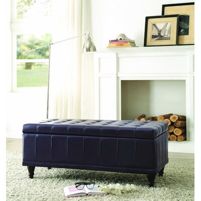 Cafferata Upholstered Storage Bench Color: Purple