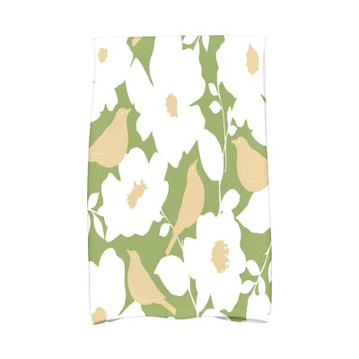 Modfloral Hand Towel Color: Green