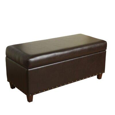 Krantz Faux Leather Storage Bench Upholstery: Espresso