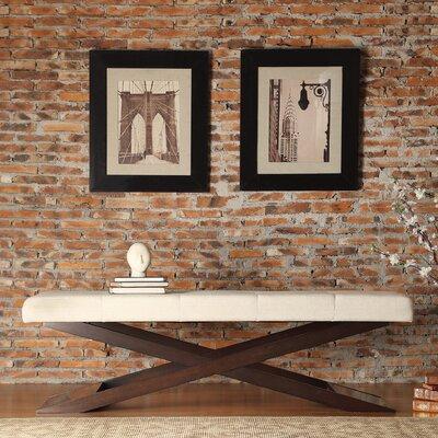 Lani Wood Bench Color: Beige