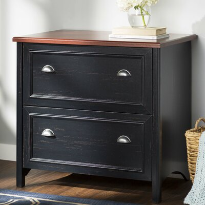 Carroll 2 Drawer Accent Chest Color: Hansen Cherry/Antique Black