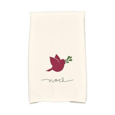 Cornwall Noel Bird Hand Towel Color: Cranberry