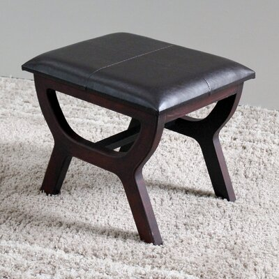 Youngston Stool with Wood Leg Color: Black