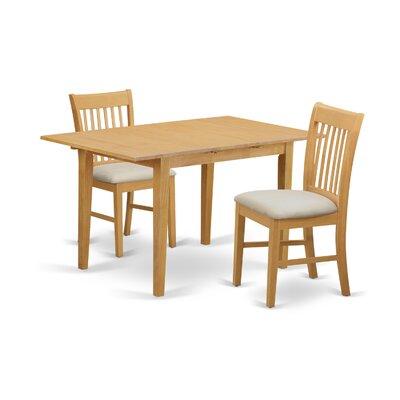 Phoenixville 3 Piece Extendable Dining Set Finish: Oak