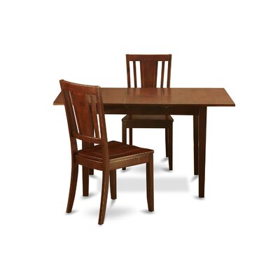 Hunsinger 3 Piece Dining Set Chair Upholstery: Non-Upholstered Wood