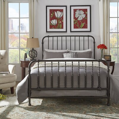 Elyse Bed Frame Color: Frost Gray, Size: King