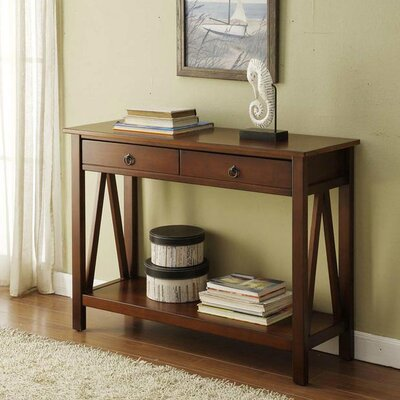 Soule Console Table Color: Brown