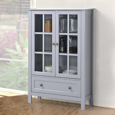 Valerie Tall Accent cabinet Color: Grey