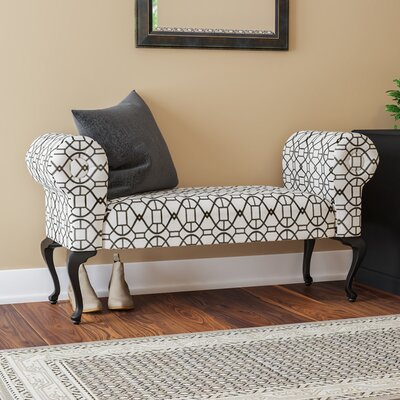 Deford Cabriole Legs Upholstered Bench Upholstery: Mixie Pepper