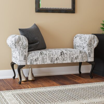 Deford Cabriole Legs Upholstered Bench Upholstery: Studio Post
