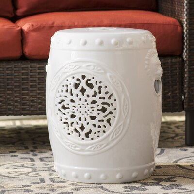 Quarryville Drum Garden Stool Finish: White
