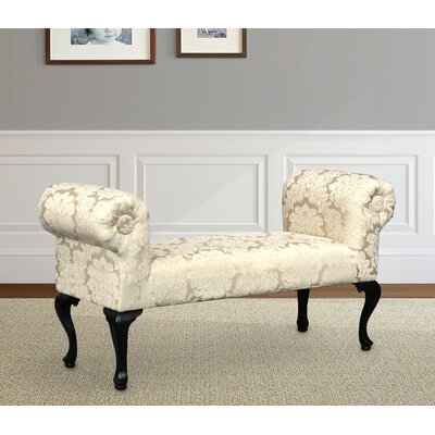 Deford Cabriole Legs Upholstered Bench Upholstery: Madison Straw