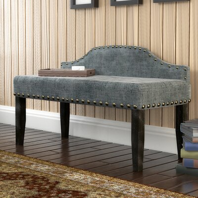 Millersburg Upholstered Bench Size: Large, Upholstery Color: Gray