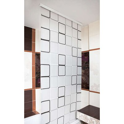 Beytug Textile Quadro PEVA Stylish Waterproof Shower Curtain