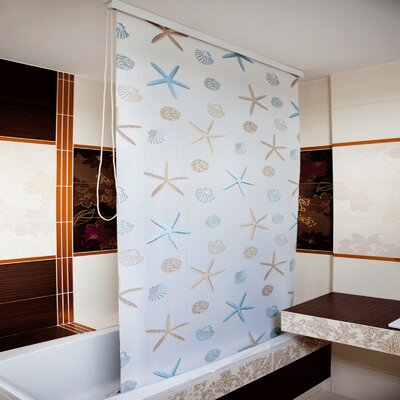 Beytug Textile Ocean PEVA Stylish Waterproof Shower Curtain